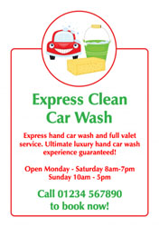 car cleaning flyers