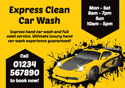 car valeting flyers