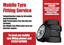 mobile tyre replacement flyers