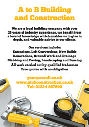 building and construction flyers