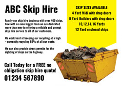 yellow skip flyers