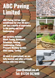 block paving flyers