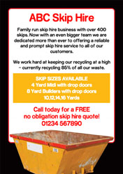 skip hire flyers