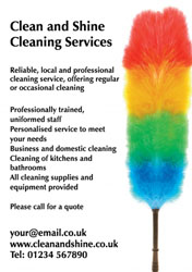 colourful feather duster flyers
