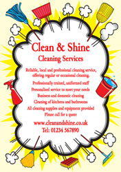 cleaning cloud burst flyers