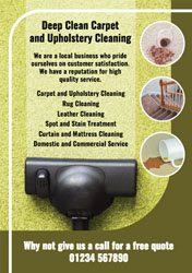 domestic carpet cleaning flyers