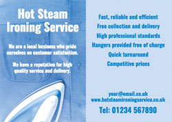 Ironing service flyers customise online plus free delivery ironing shirt flyers pronofoot35fo Image collections