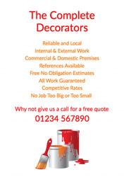 orange and red paint tins flyers