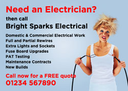 need an electrician flyers