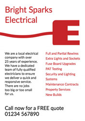 e for electrician flyers