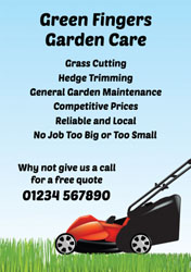 lawn cutting flyers