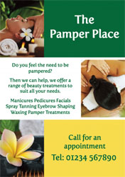 pampering flyers