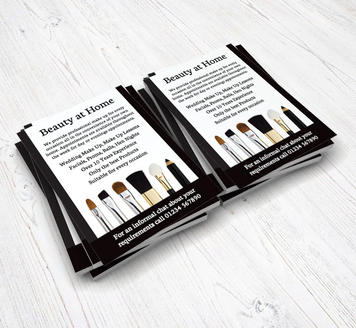 makeup brushes flyers