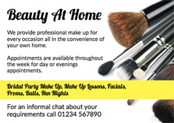 set of makeup brushes flyers