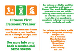 personal trainer flyers