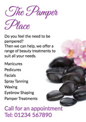 spa treatment flyers