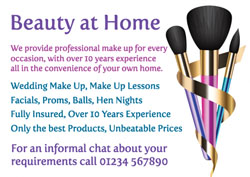 three makeup brushes flyers