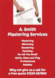 plastering services flyers