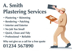 plastering wall flyers