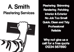 black and white plastering flyers