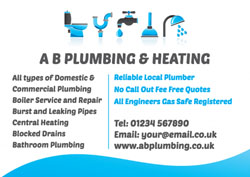 bathroom fitters flyers
