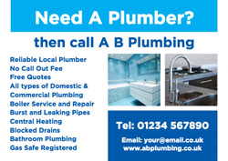 plumbing services flyers