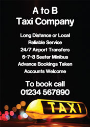 licenced taxi flyers