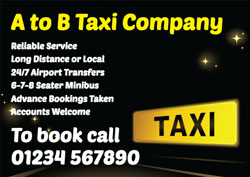taxi sign flyers