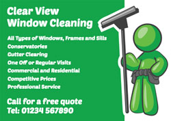green window cleaner flyers