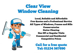 local window cleaner flyers