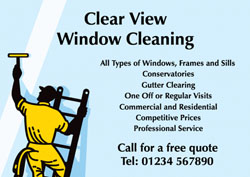 window cleaning ladder flyers