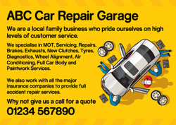 vehicle repair flyers