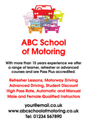 motoring school flyers