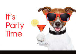 dog cocktail party invitations