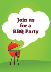 green BBQ party invitations
