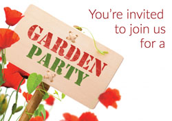 garden party sign invitations