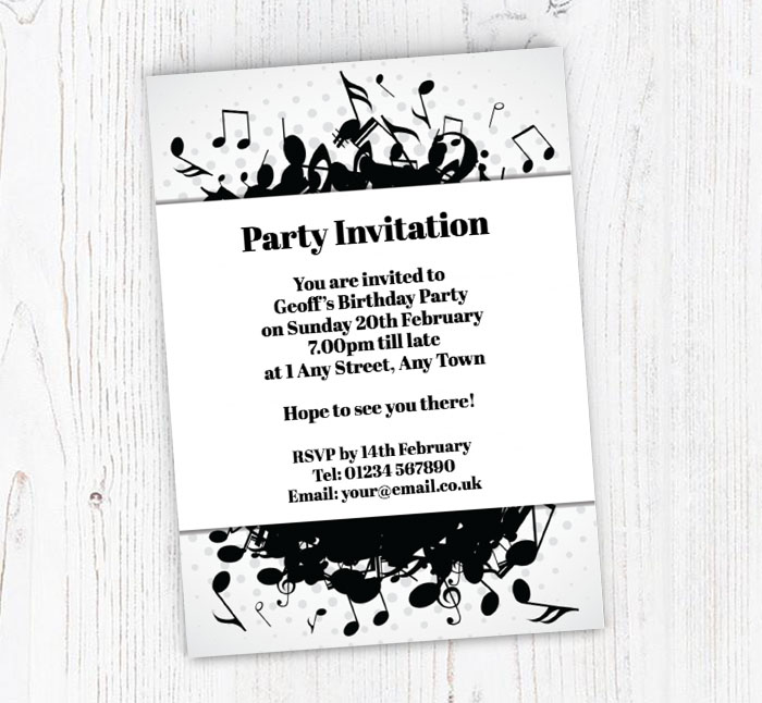 Musical Notes Party Invitations
