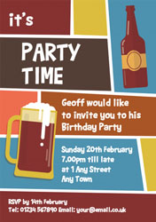 fancy a beer party invitations