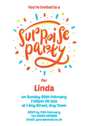 personalised surprise party invitations
