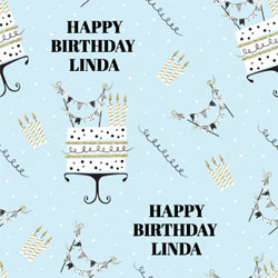cake and candles wrapping paper