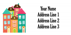 town houses address labels