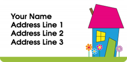 pink roof address labels