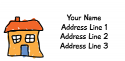 orange house address labels