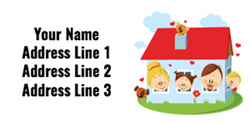 family home address labels