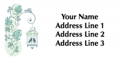 bird cage address labels