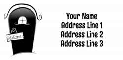 welcome address labels