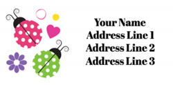 ladybirds address labels
