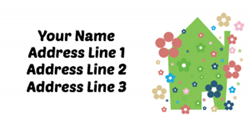 flowery house address labels