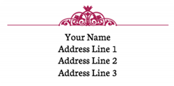 ornate address labels