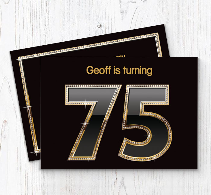 75th Birthday Party Invitations